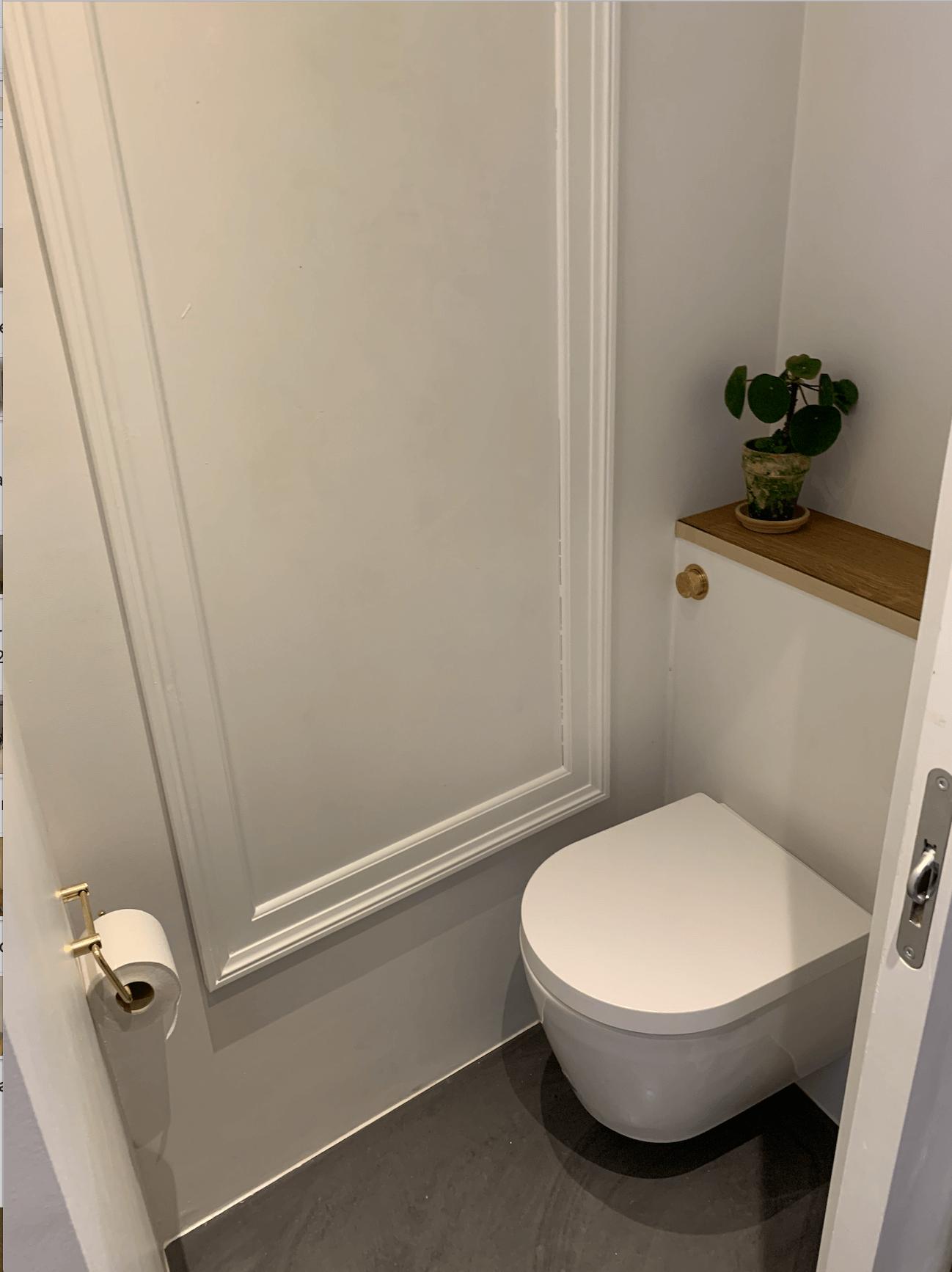 renovering af fredet ejendom toilet efter