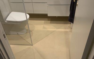 Nyt badeværelse med microcement