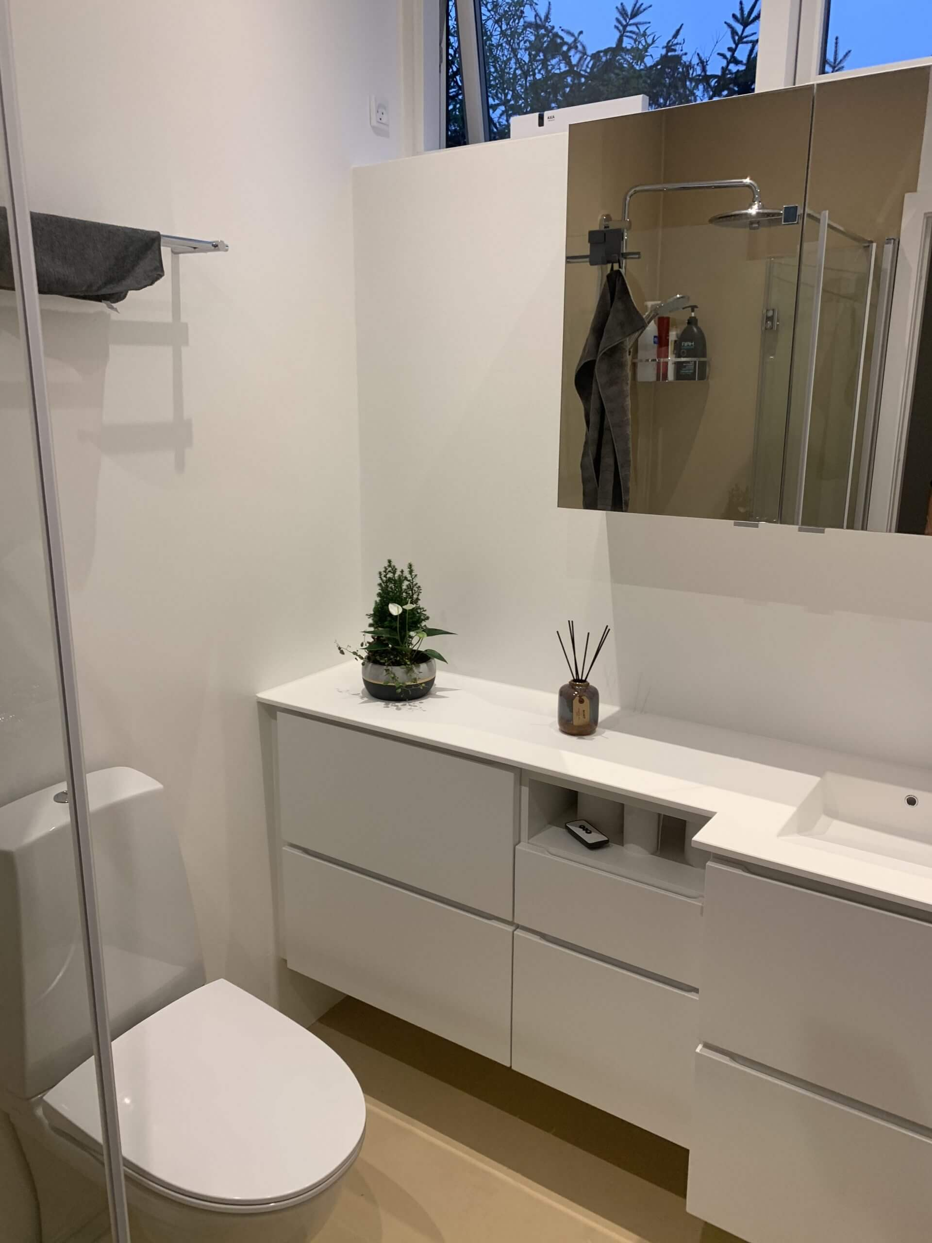 Badeværelses renovering med microcement